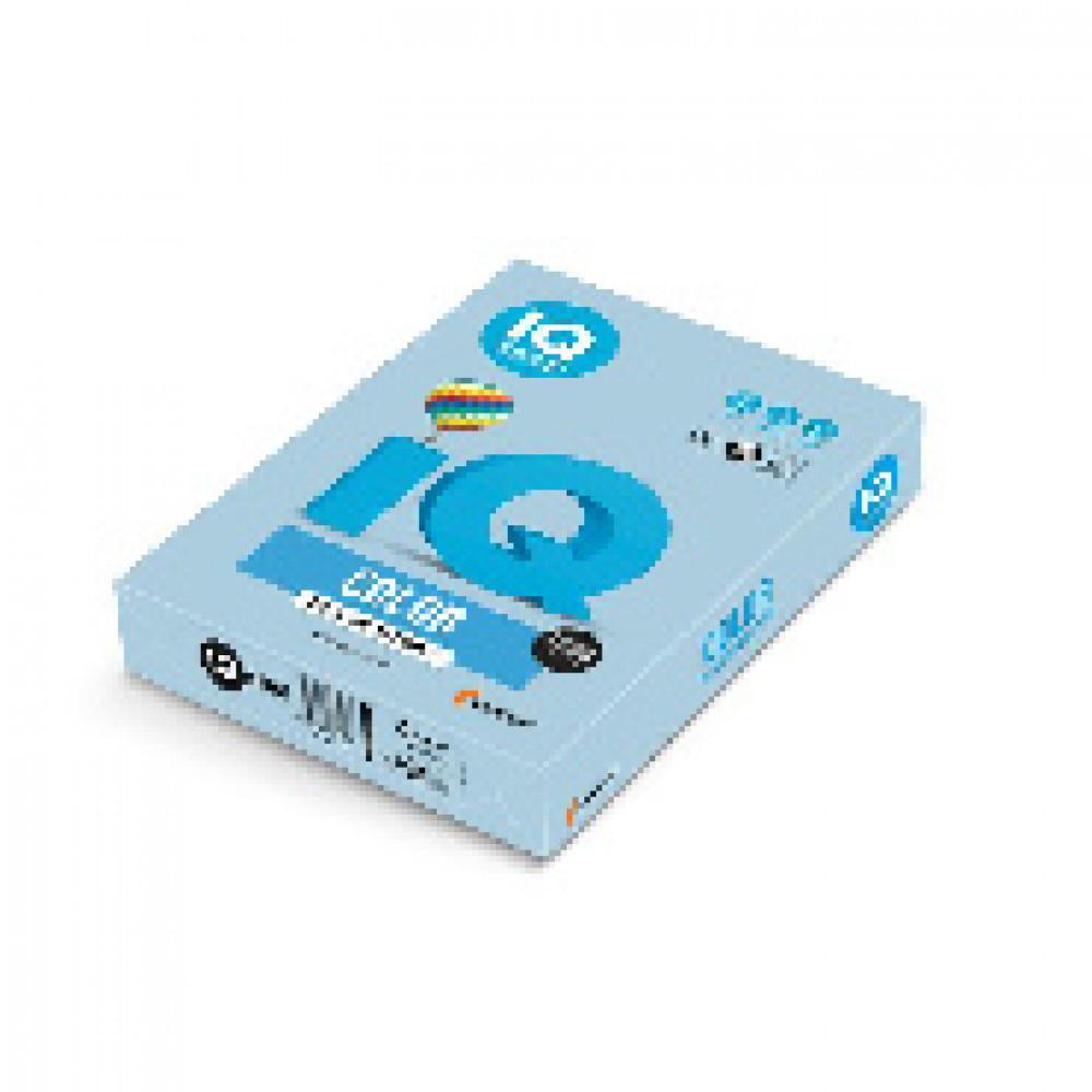 Бумага цветная IQ COLOR (А4,160г,OBL70-голубой лед) пачка 250л.
