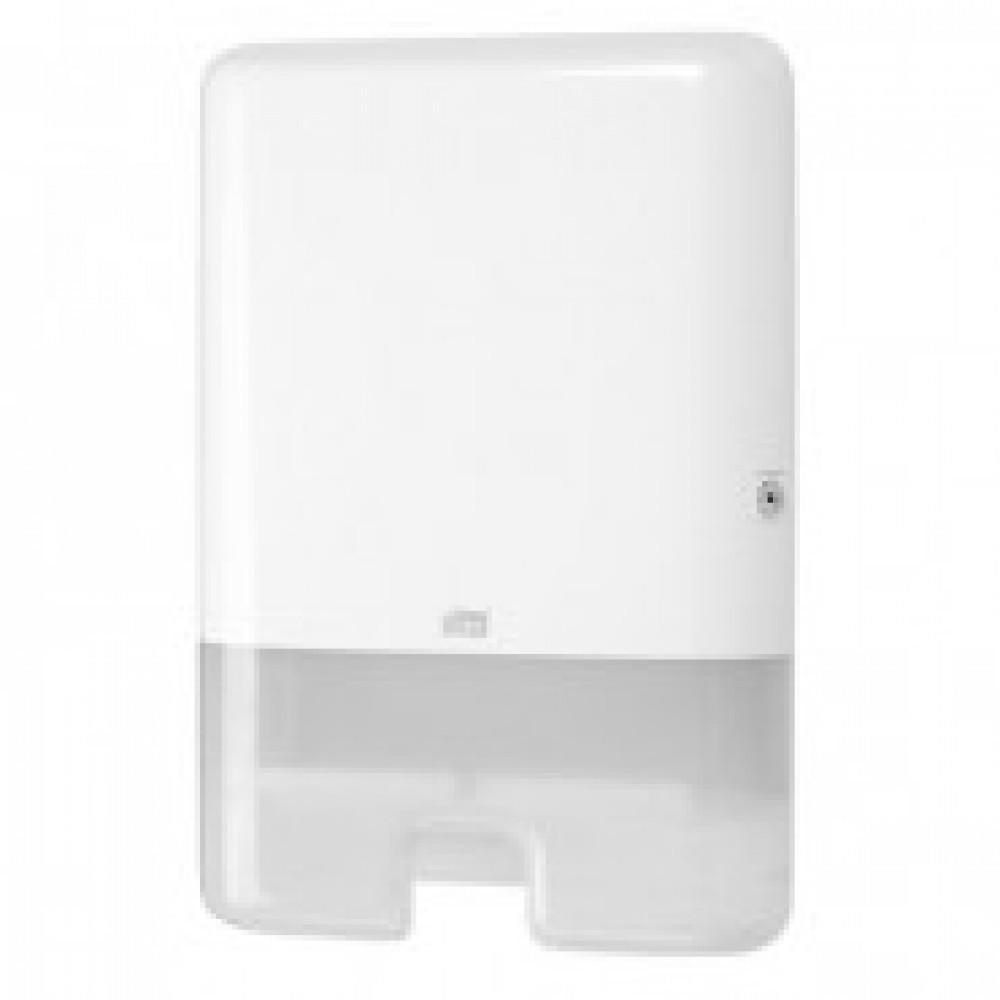 Диспенсер для листовых полотенец Tork Xpress Multifold H2 пластиковый белый (код производителя 552000)
