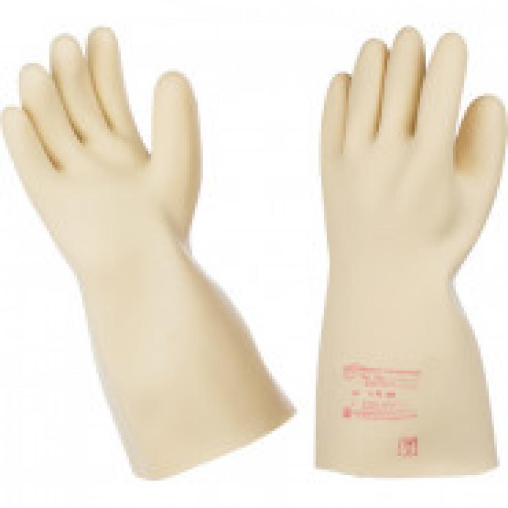 Перчатки защитные диэлектрические бесшовные латексные размер 4