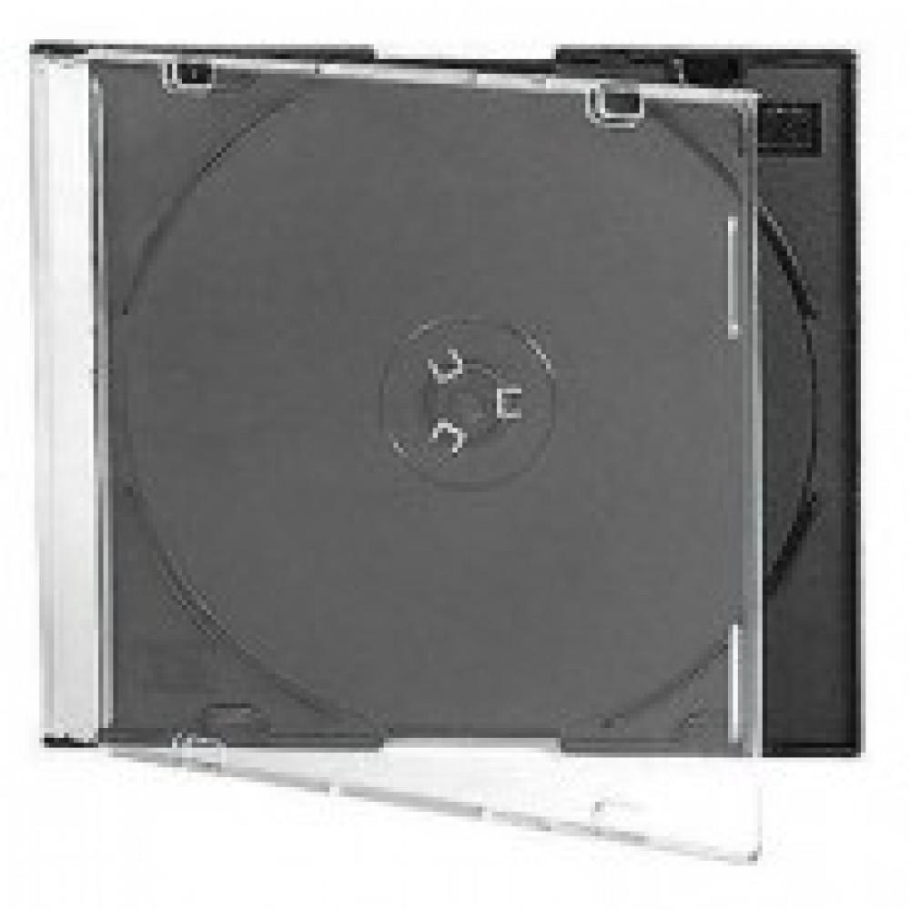 Бокс для CD/DVD дисков VS CD-box Slim/5 черный