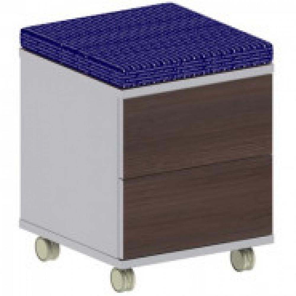 Мебель Easy B Тумба моб.с мягк.элем.1280 шале/сер.(217) 2ящ.