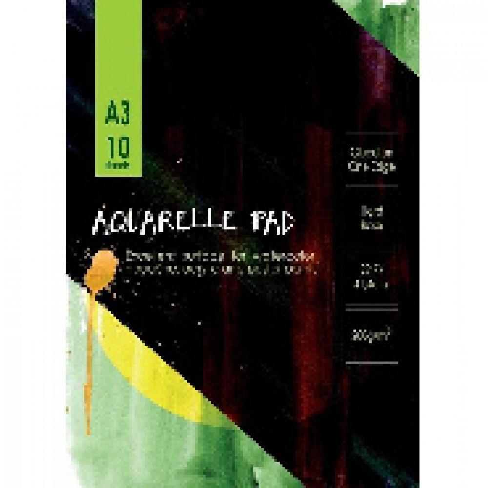 Альбом для акварели 10л,А3,склейк,блок ГОЗНАК,200гр,тверд.карт.подлож,05671