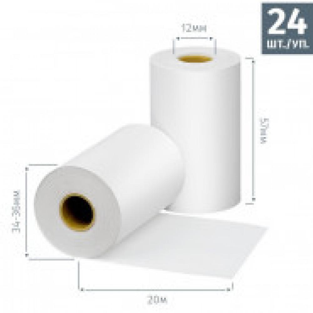 Ролики для касс  Promega  57мм (дл.20м,вт.12,из т/б) 24шт./уп. 10уп/к