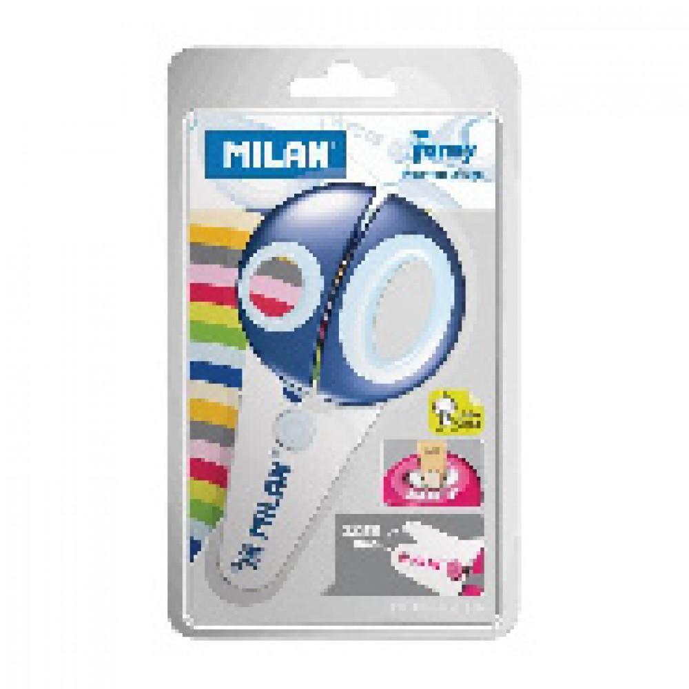Ножницы детские Milan Funny с пластиковыми лезвиями, блистер (BWM10152)(ДС)