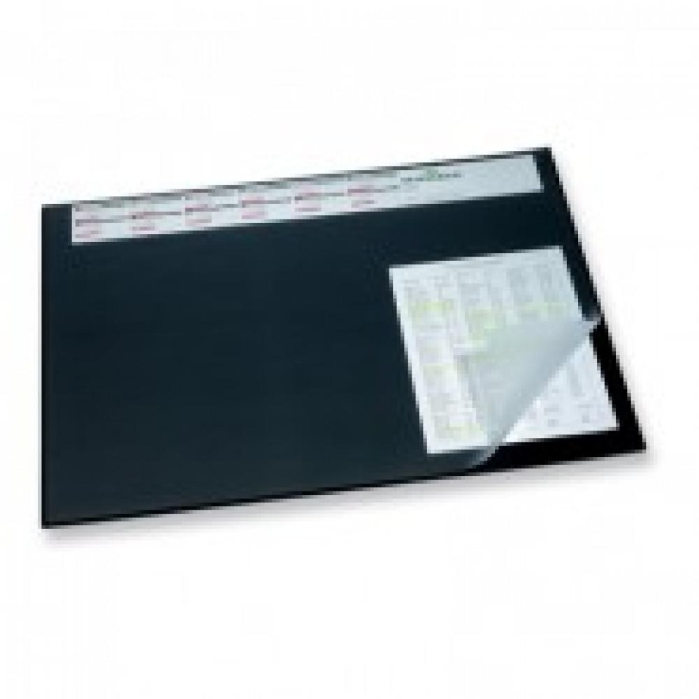 Коврик на стол DURABLE 52х65см черный с прозрачным листом, с календ 7204-01