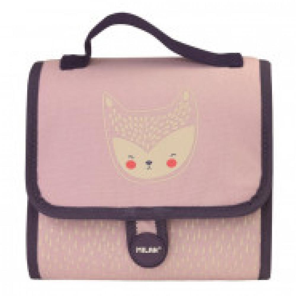 Портфель Berrywood детский с 2-мя пеналами с наполнением, розовый, 08831BP