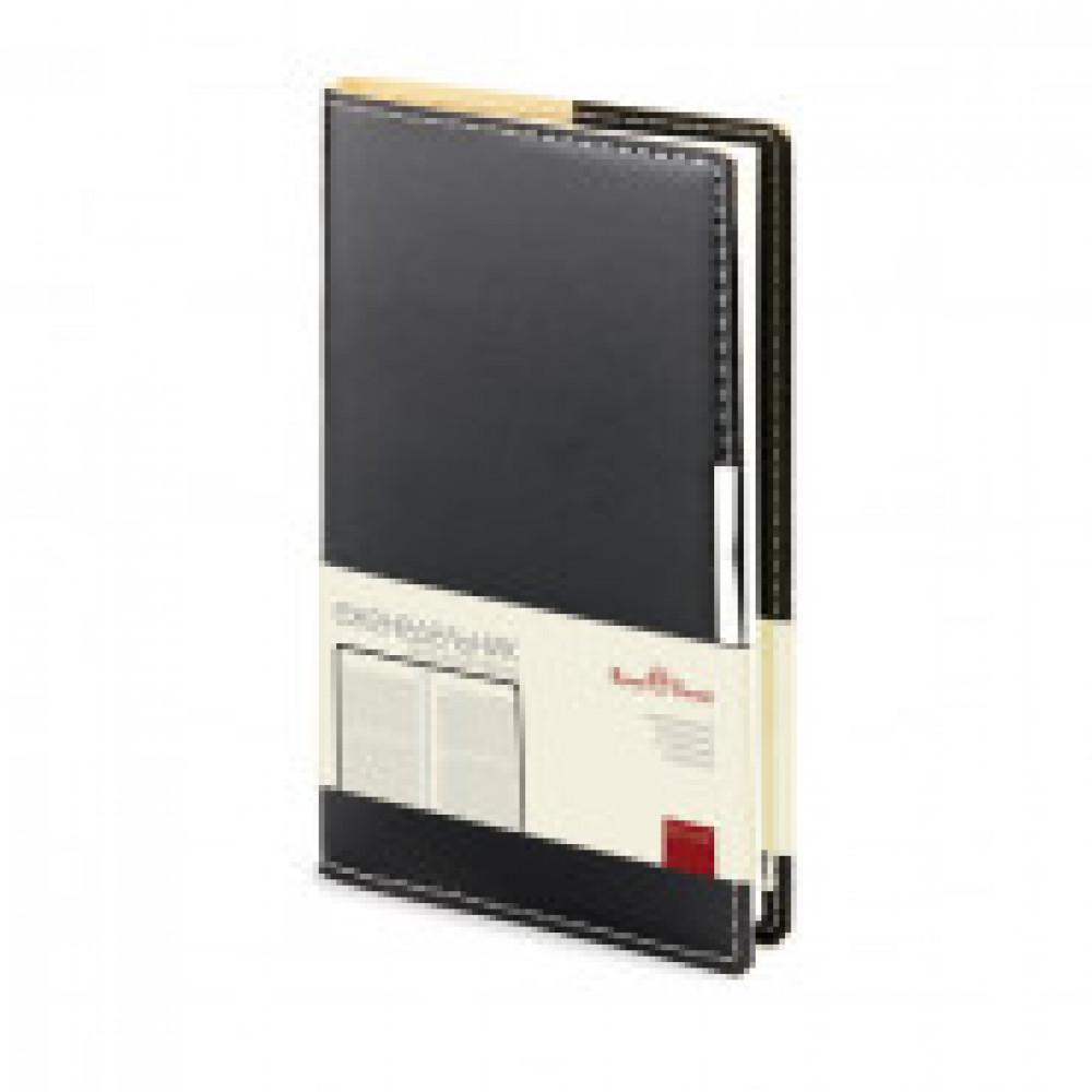 Еженедельник недатированный Bruno Visconti Metropol искусственная кожа A6 80 листов черный (102x177 мм) (артикул производителя 3-492/03)