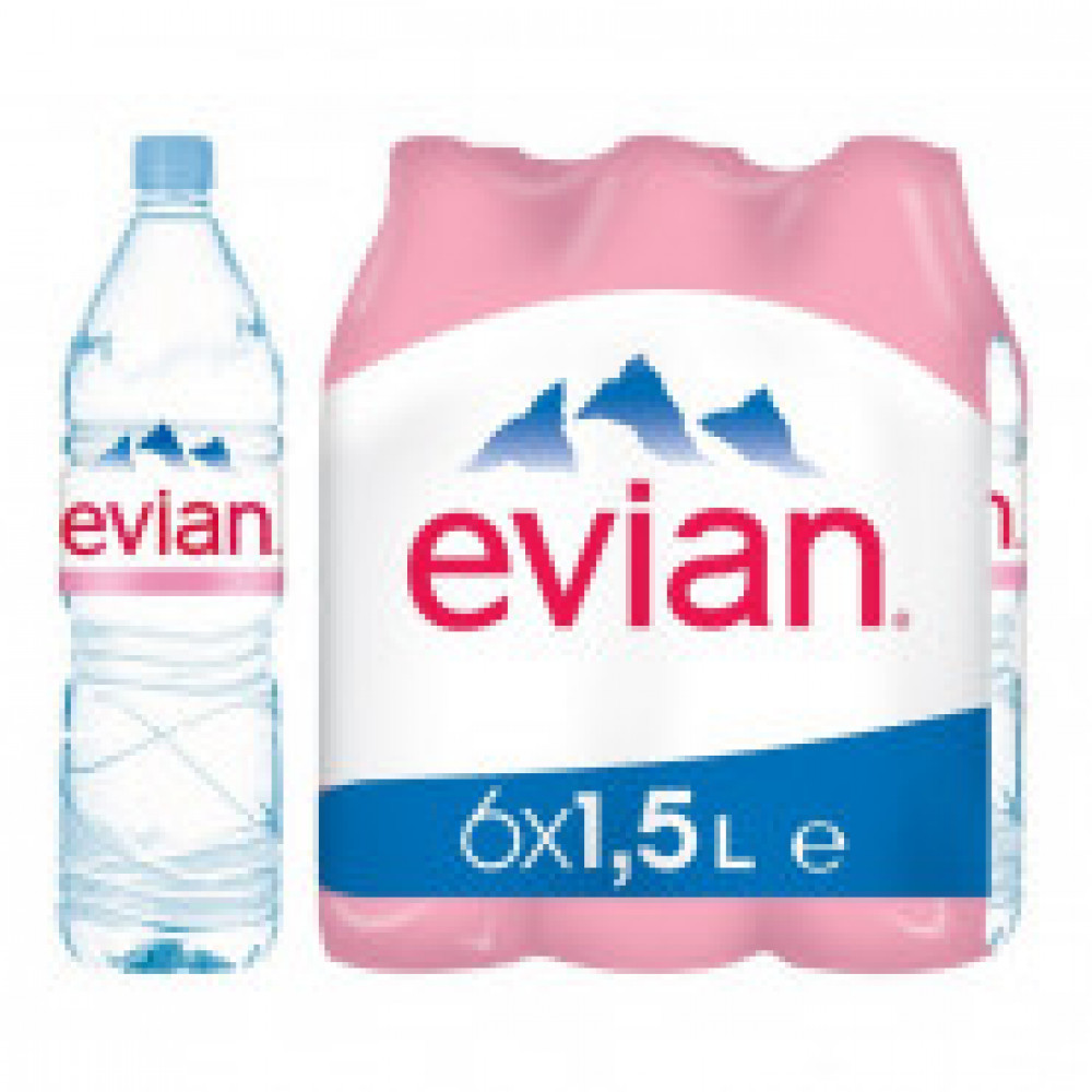 Вода минеральная Evian негазированная 1.5 л (6 штук в упаковке)