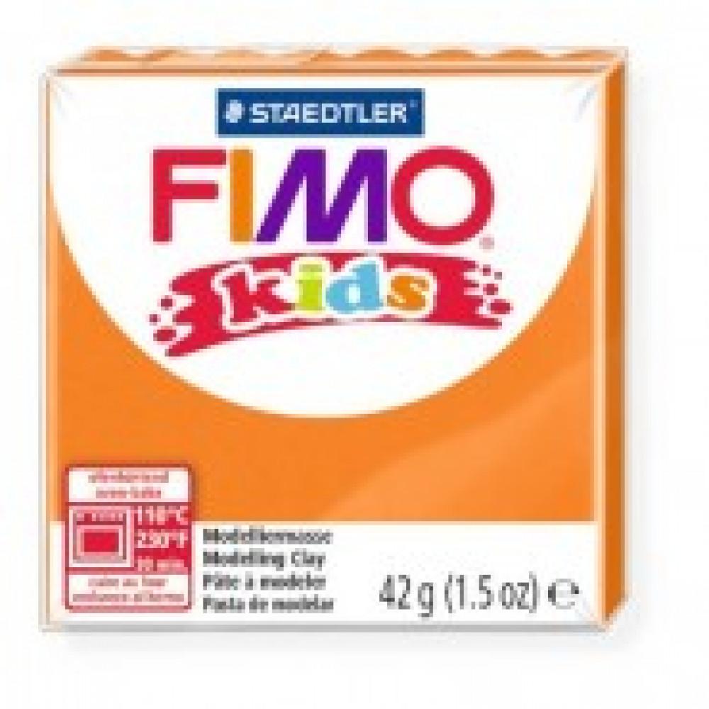 Глина полимерная оранжевая,42гр,FIMO,kids,8030-4