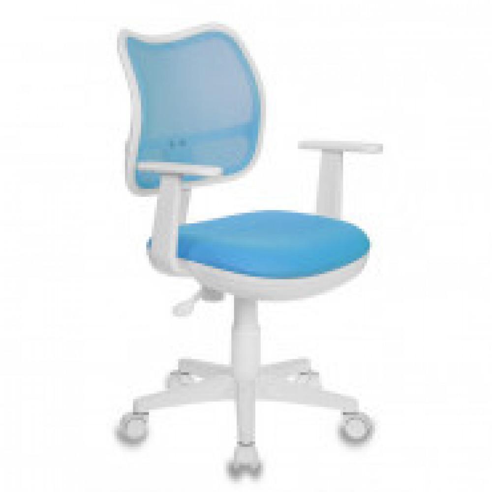 Кресло детское Бюрократ CH-W797 голубое (сетка/ткань, пластик)