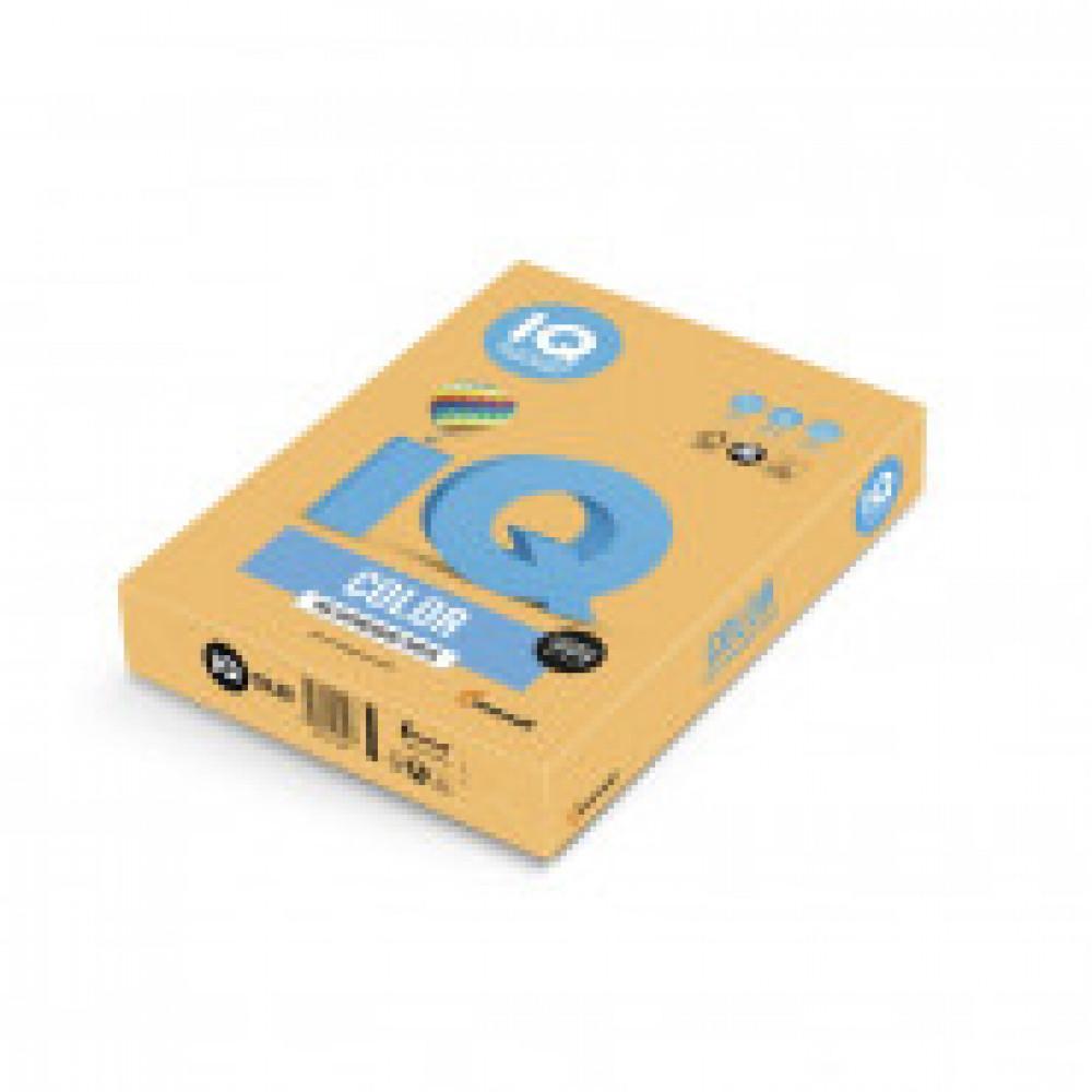 Бумага цветная IQ COLOR (А3,80г,NEOOR-оранжевый неон) пачка 500л.