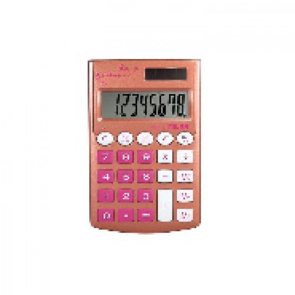 Калькулятор Milan 8-разряд, в чехле, двойное питание, цвет бронзовый