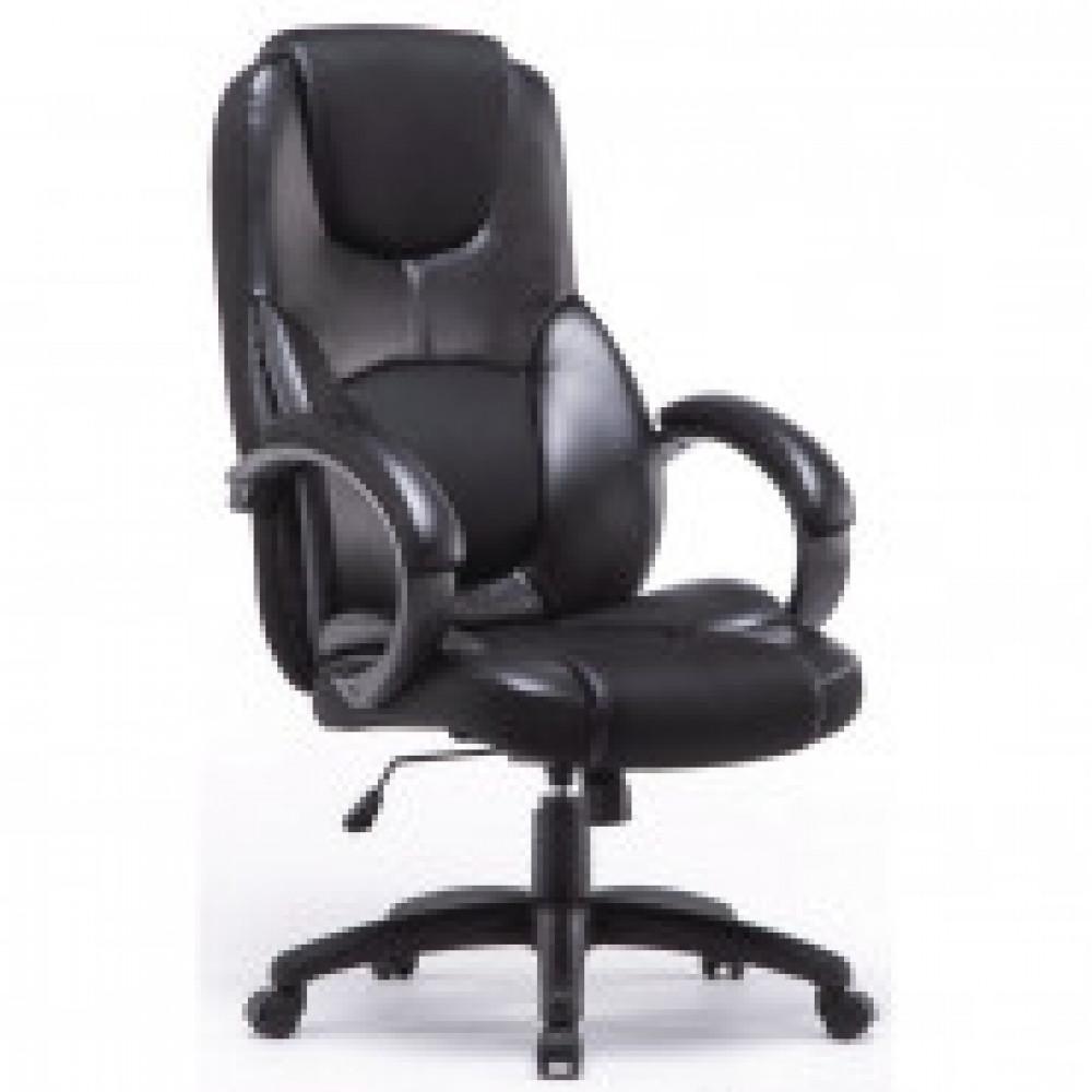 Кресло BN_Dt_EСhair-664 TRF рец. кожа, ткань черные