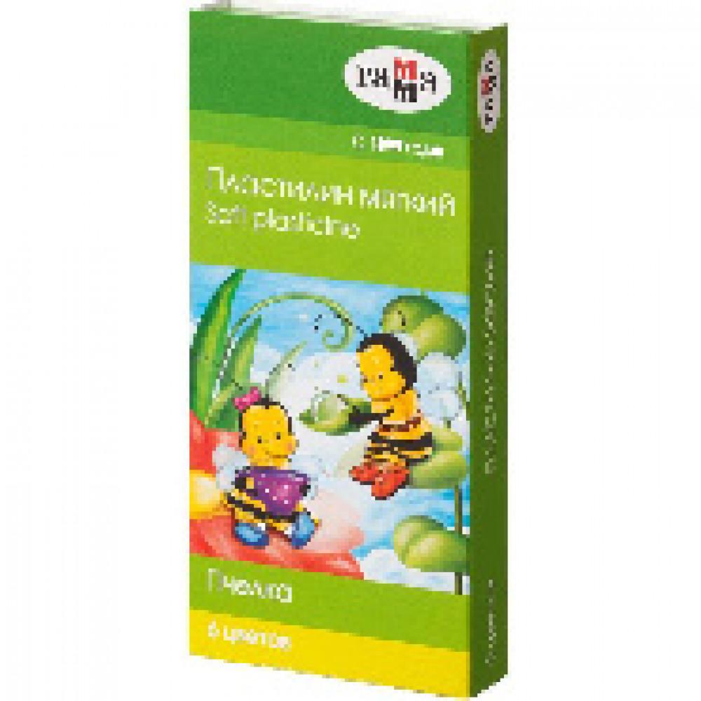 Пластилин Гамма Пчелка мягкий 6цв, со стеком, к/к, 90г, 280029Н