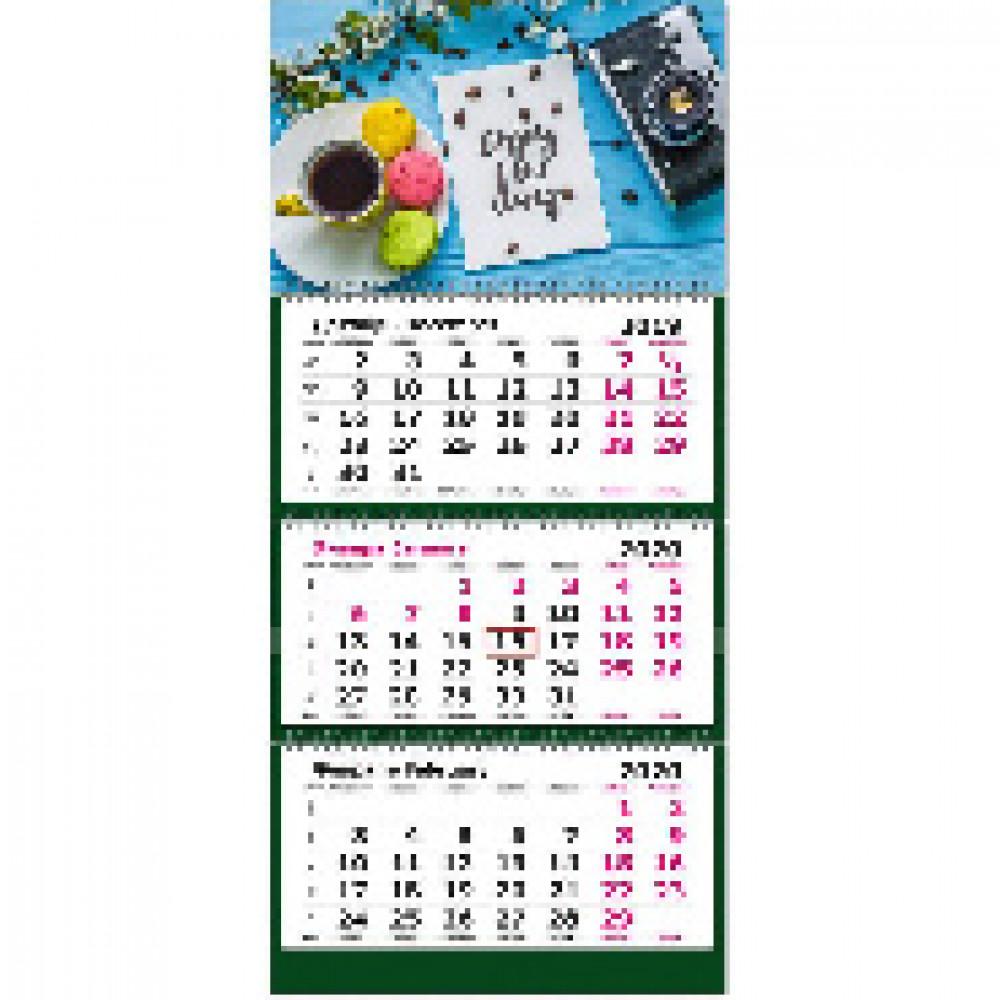 Календарь настен, 2020, 305х675,Сделай паузу , 3 спир,80г/м2, KB