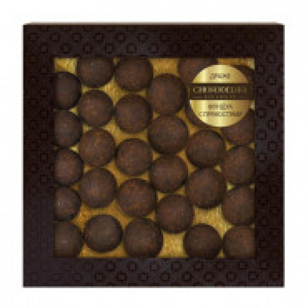 Драже фундук с пряностями, покрытые темным ореховым шоколадом 90 г
