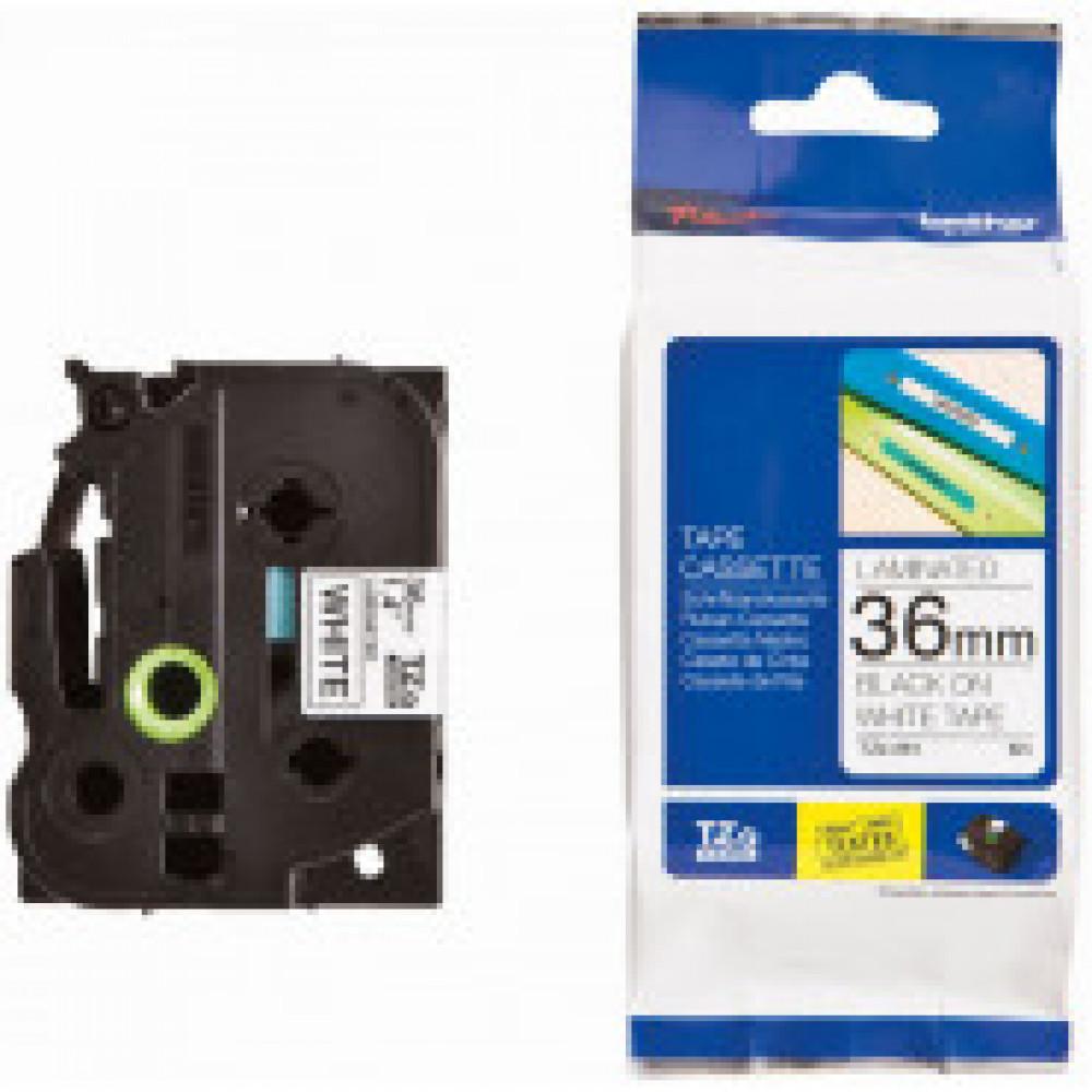 Картридж для принтера этикеток Brother TZe-261 (36 мм x 8 м, цвет ленты белый, шрифт черный)