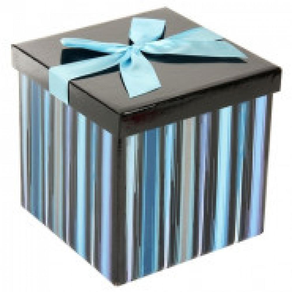 Коробка трансформер Голубая полоска 17.5x17.5x17см YK-803PE4(59562)