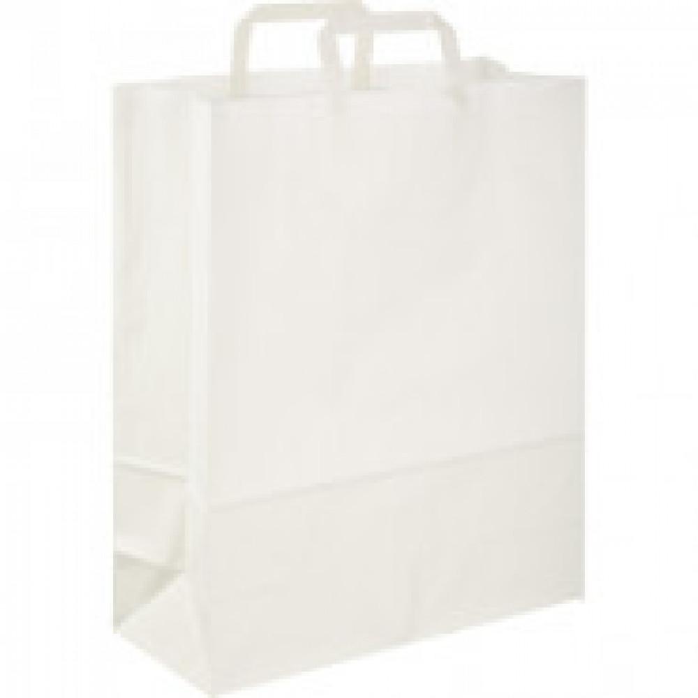 Пакет бум крафт бел с плоской руч 350x150x450мм(ECOCarrBagPLWHITE)200шт/уп