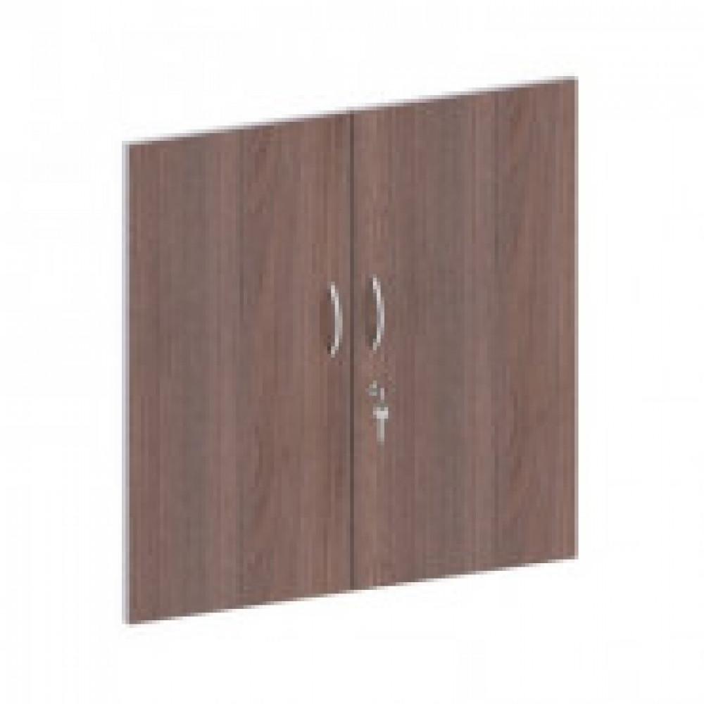 Мебель Easy St Двери низк. ЛДСП замок (2шт.) 906514 т.дуб/сер.(560)