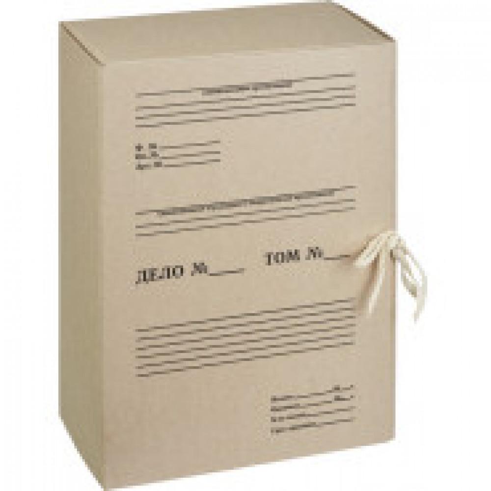 Короб архивный на 2-х завязках Attache 120 мм картон бурый до 1200 листов