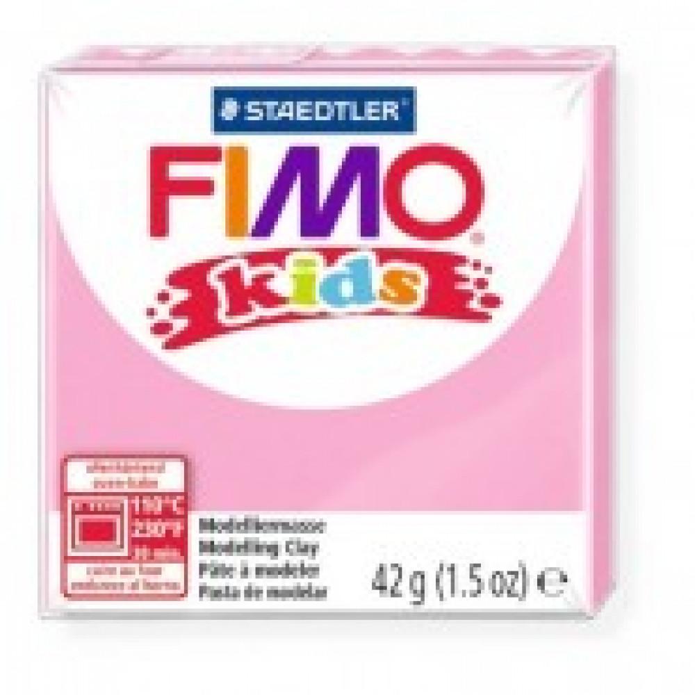 Глина полимерная розовая,42гр,FIMO,kids,8030-220