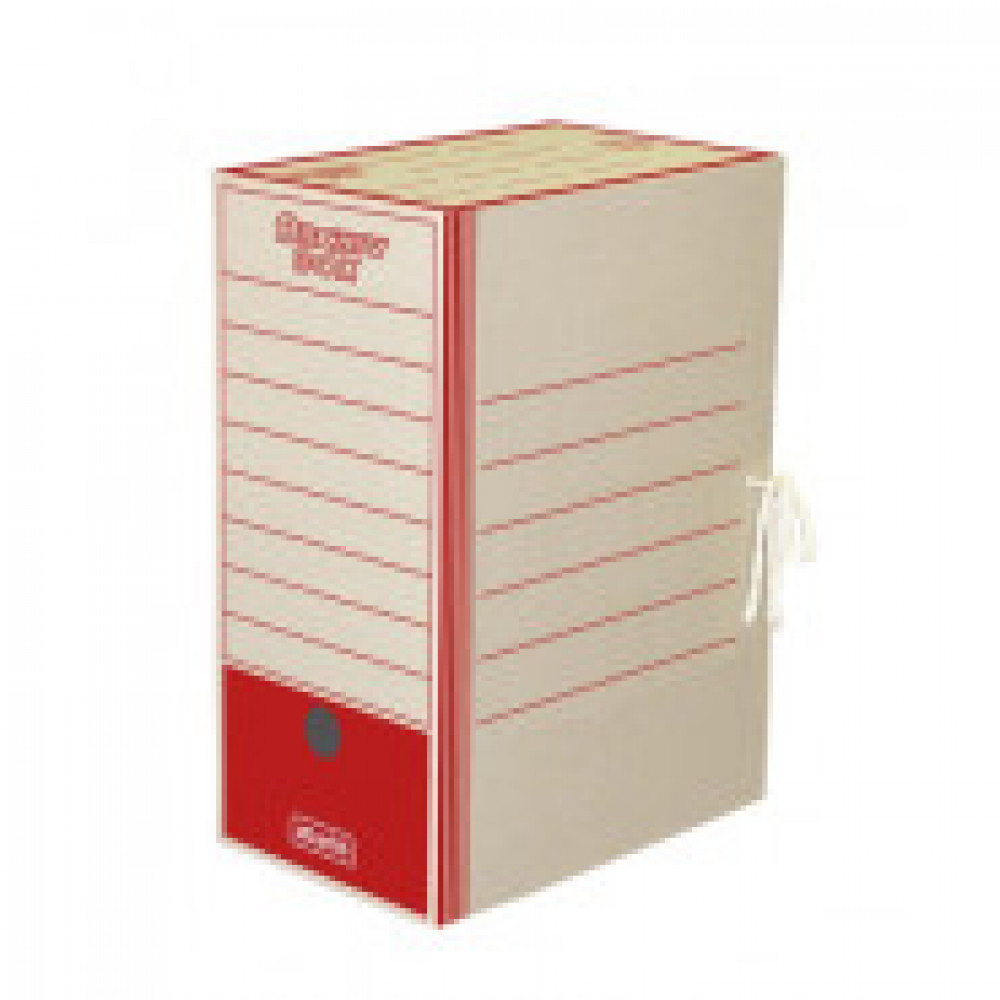 Короб архивный на 2-х завязках Attache 150 мм картон до 1500 листов красный