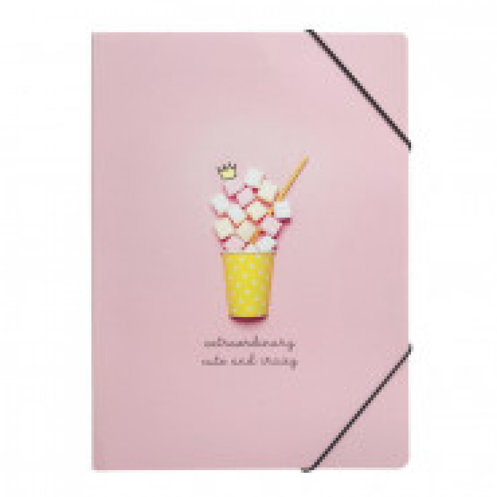 Папка для тетрадей Be Smart Mellow, А4, картон, на резинке, N1423, мармелад