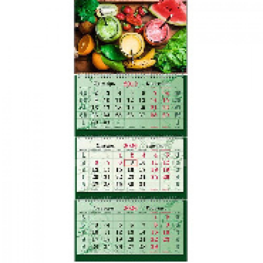 Календарь настен Вкус жизни,2020,340х805, 3спир,100г/м2