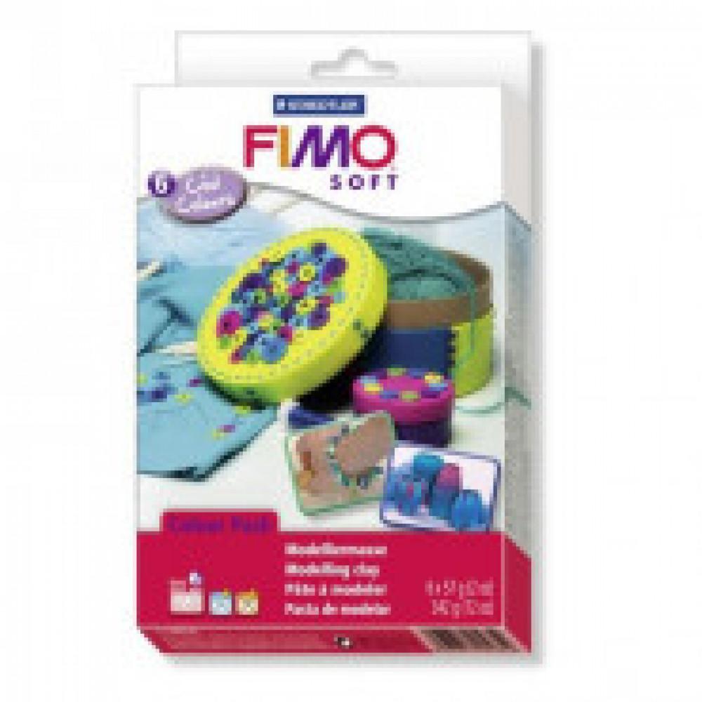 Глина полимерная FIMO soft комплект Холодные цвета,8023 04/23