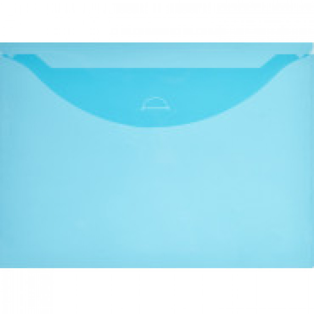 Папка-конверт на клапане Attache 330x240 мм синяя 180 мкм (10 штук в упаковке)