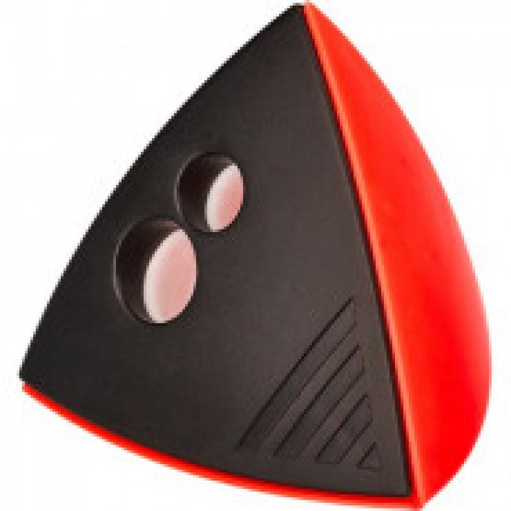 Точилка Attache Mercury,с контейнером,2отверстия,красно-черн