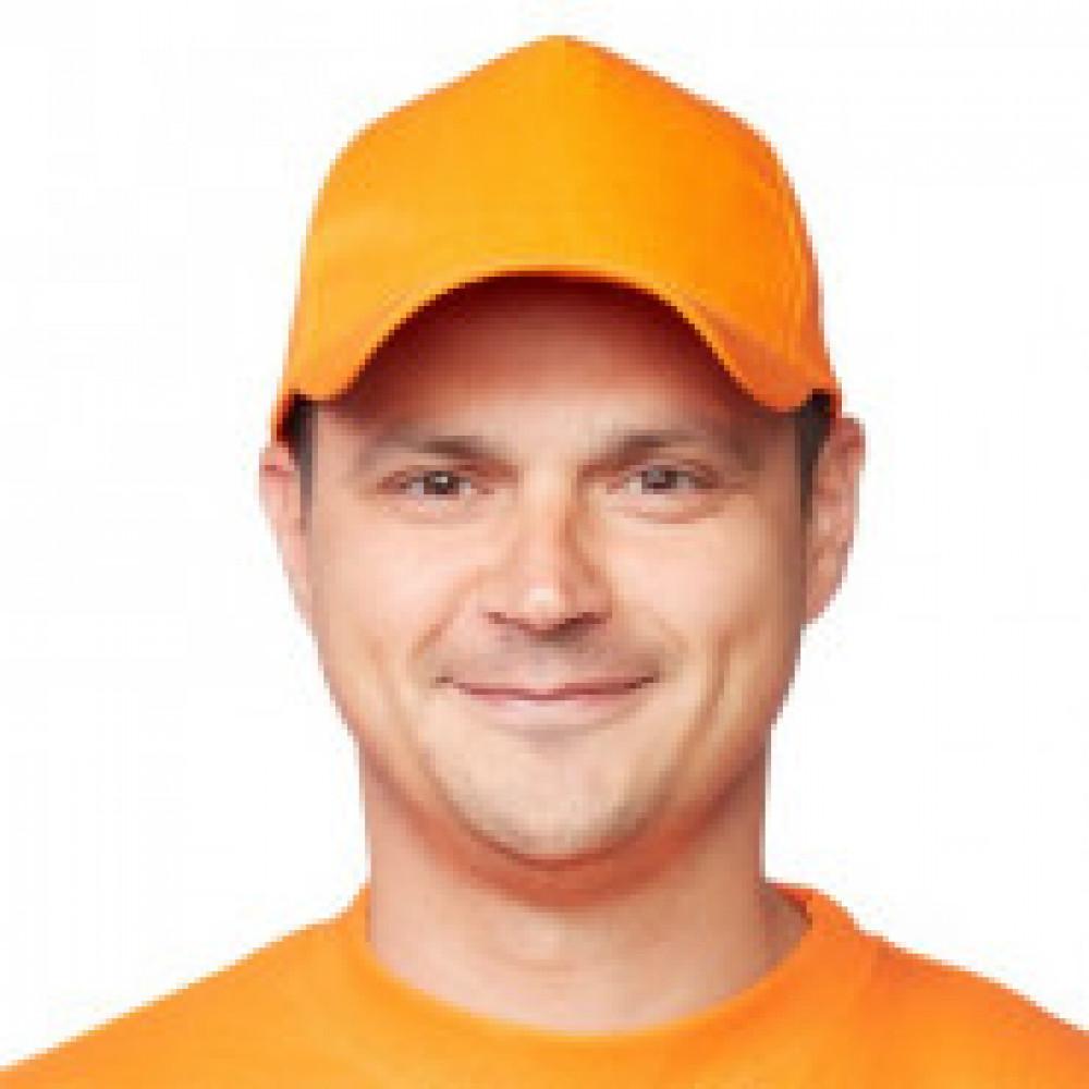 Бейсболка Комфорт оранжевая