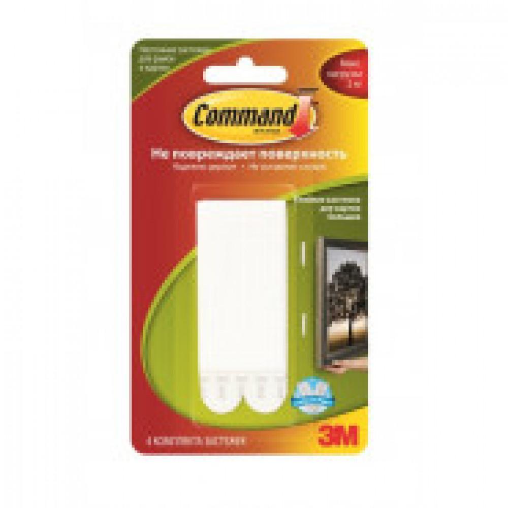 Застежки клейкие Command белые 2 кг.,4 пары.