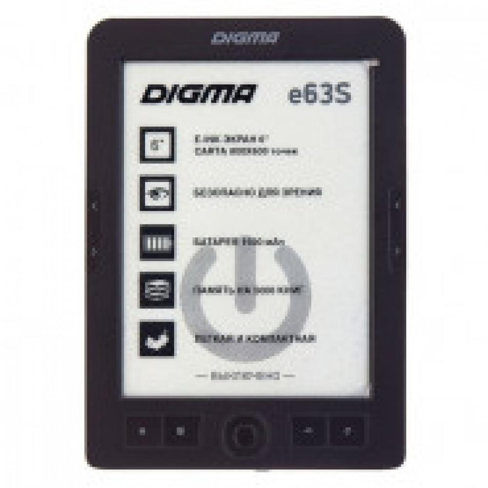 Книга электронная Digma E63S, темно-серый
