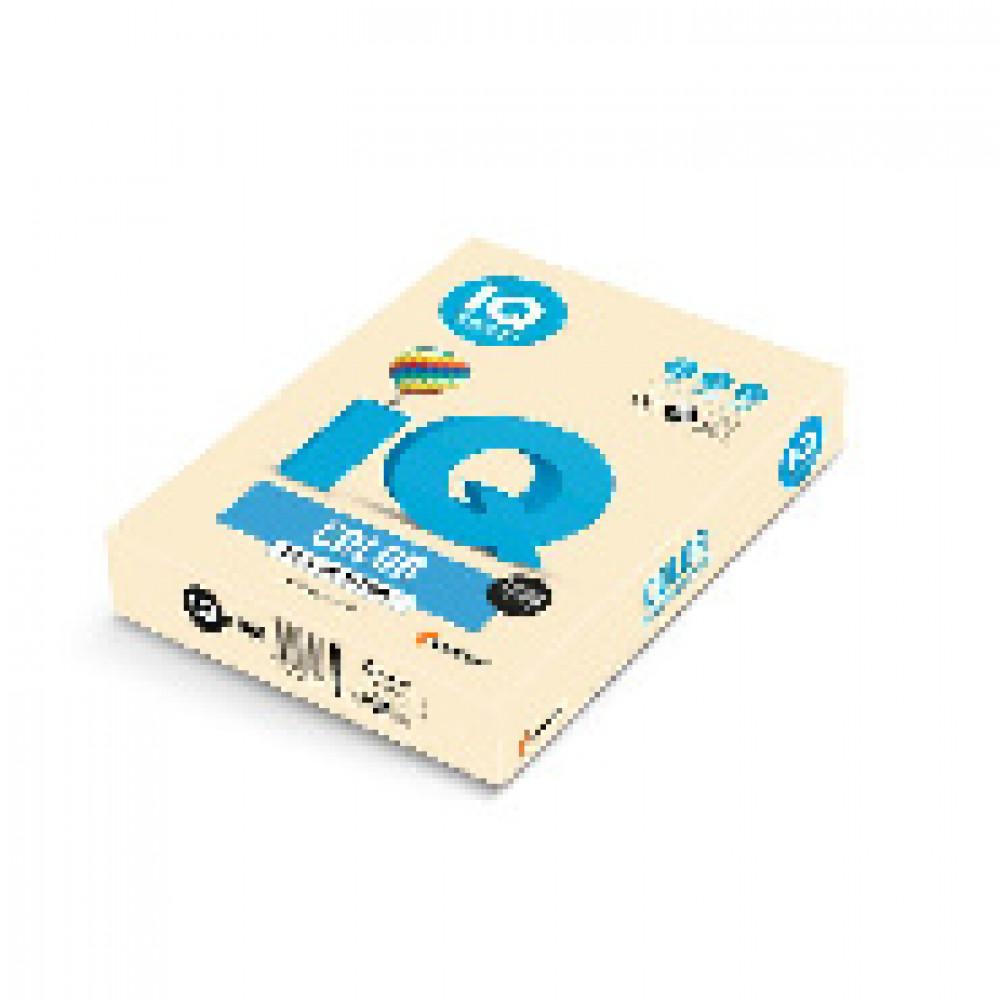 Бумага цветная для печати IQ Color бежевая пастель CR20 (А4, 160 г/кв.м, 250 листов)