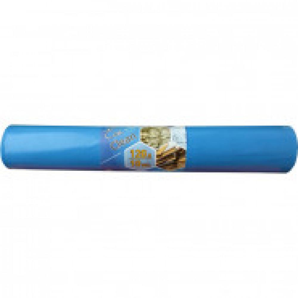 Мешки для мусора на 120 литров синие (40 мкм, в рулоне 10 штук, 70х108 см)