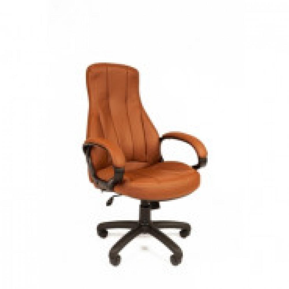 Кресло RC_РК 190 экокожа коричневая, пластик