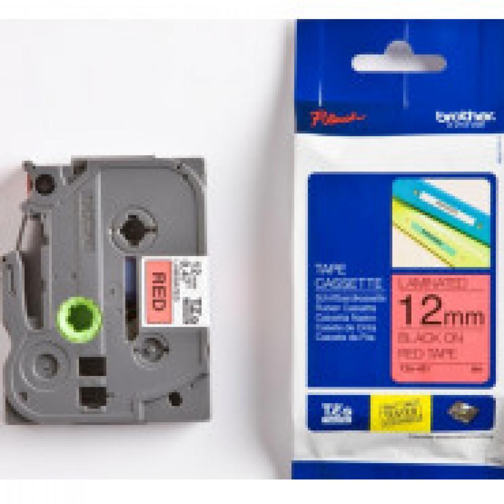 Картридж к этикет-принтеру Brother TZe-431 12ммх8м чер/красн лам P-Touch