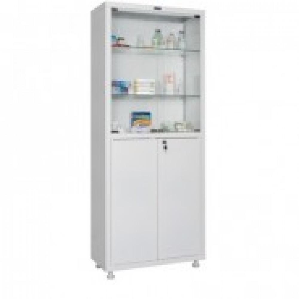 Метал.Мебель HILFE МД 2 1670/SG шкаф мед,стек,4дв.700*320*1716