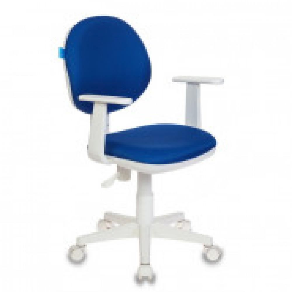 Кресло детское Бюрократ CH-W356 синее (ткань, пластик )