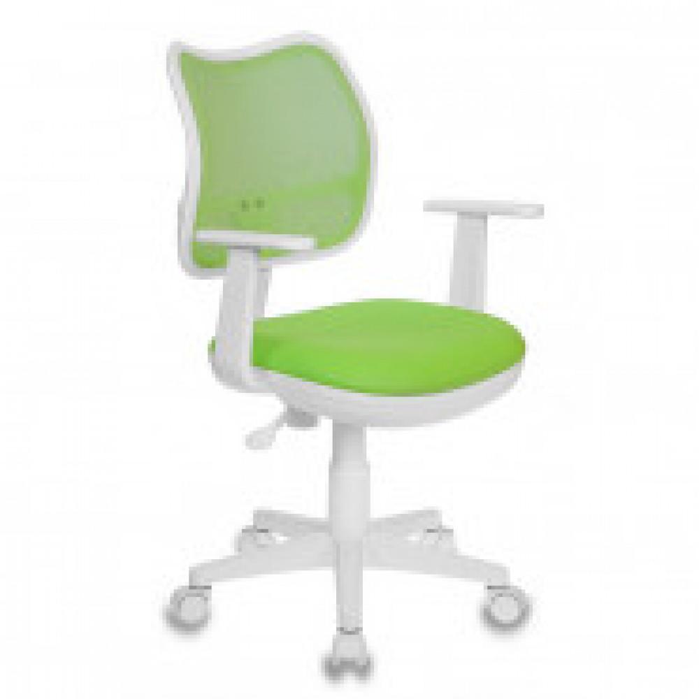 Кресло детское Бюрократ CH-W797 зеленое (сетка/ткань, пластик)