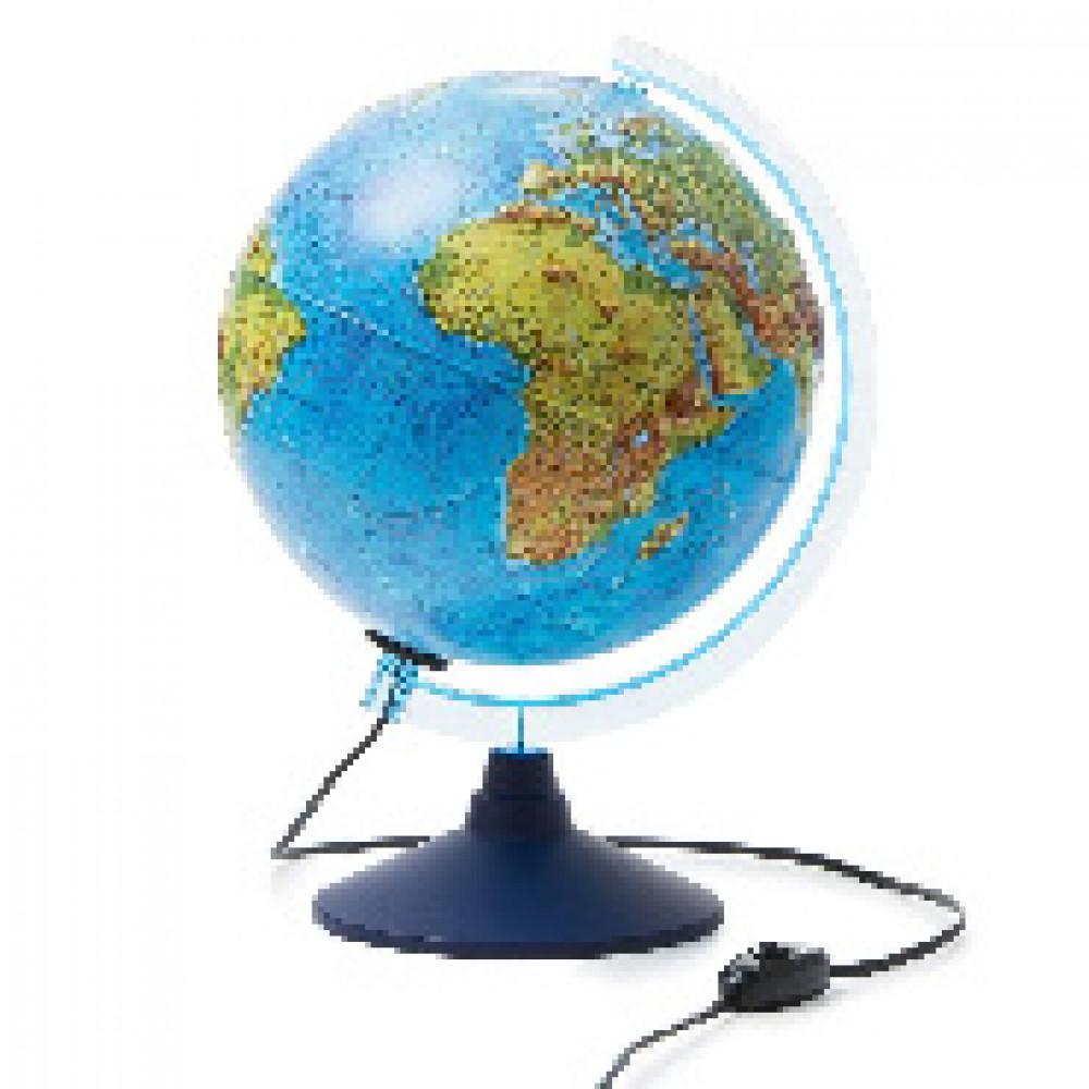 Глобус Физико-политический с подсв. рельефный,250мм, Ке022500195