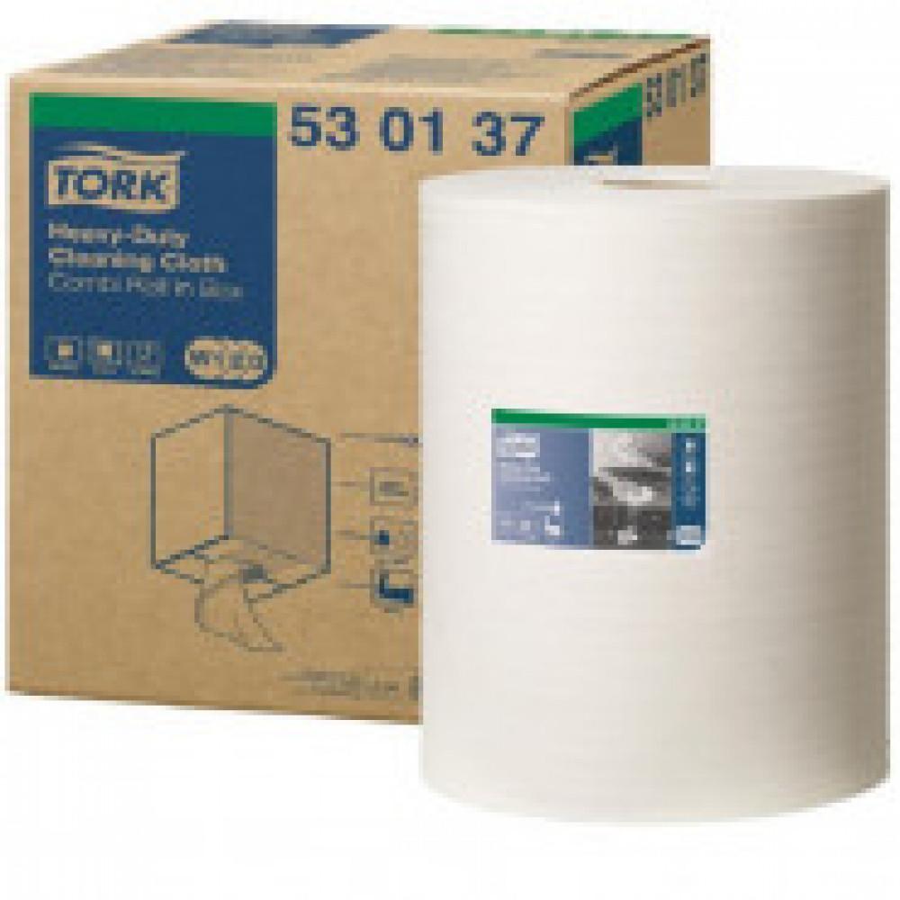 Материал протирочный нетканый Tork W1/W2/W3 280лx1рул/кор, белый 530137