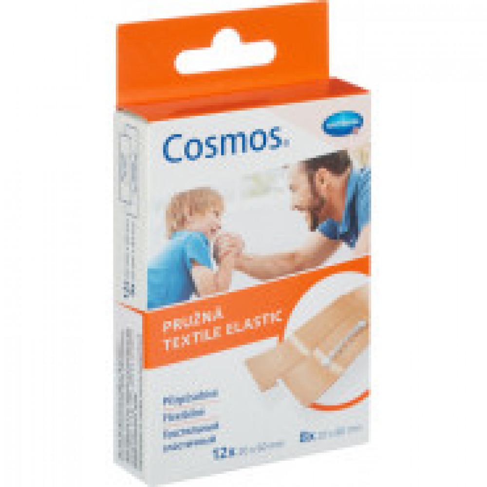 Набор пластырей эластичный 2 разм., 20 шт/уп. COSMOS textil elastic