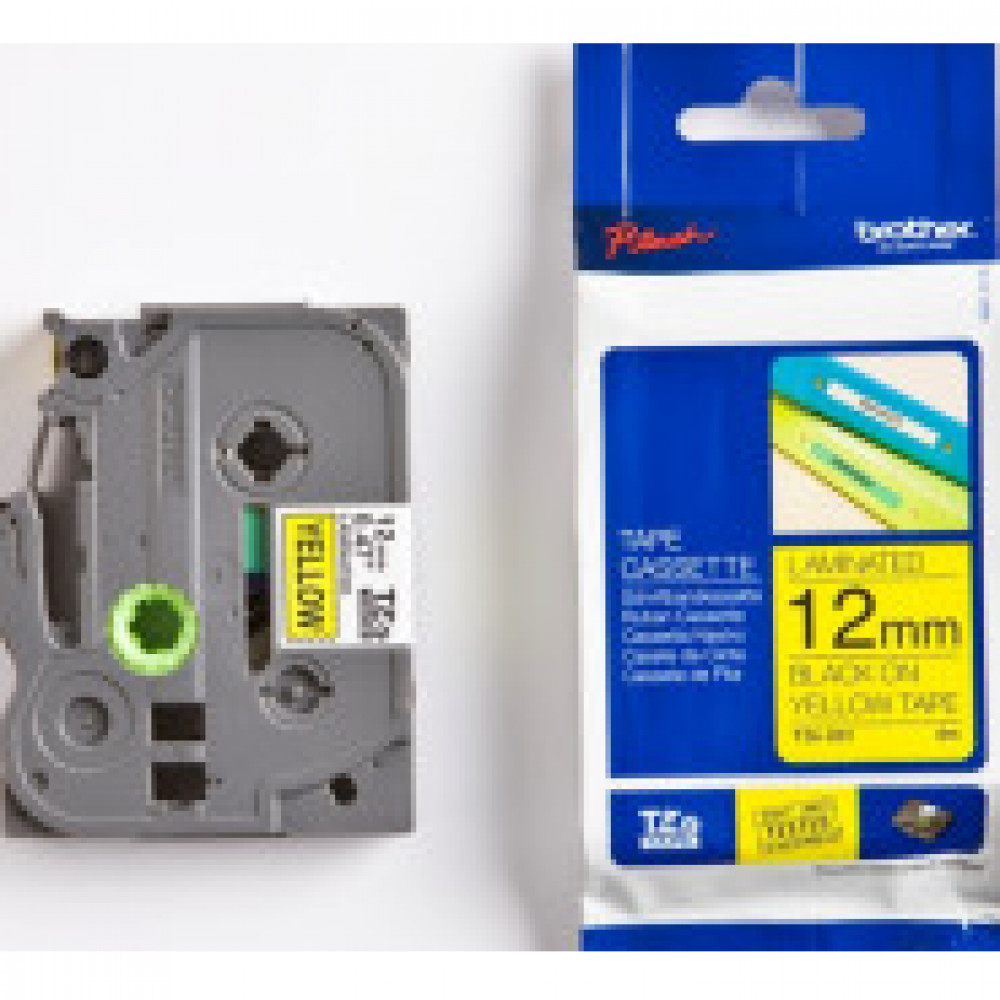 Картридж к этикет-принтеру Brother TZe-631 12ммх8м чер/жел лам. для P-Touch