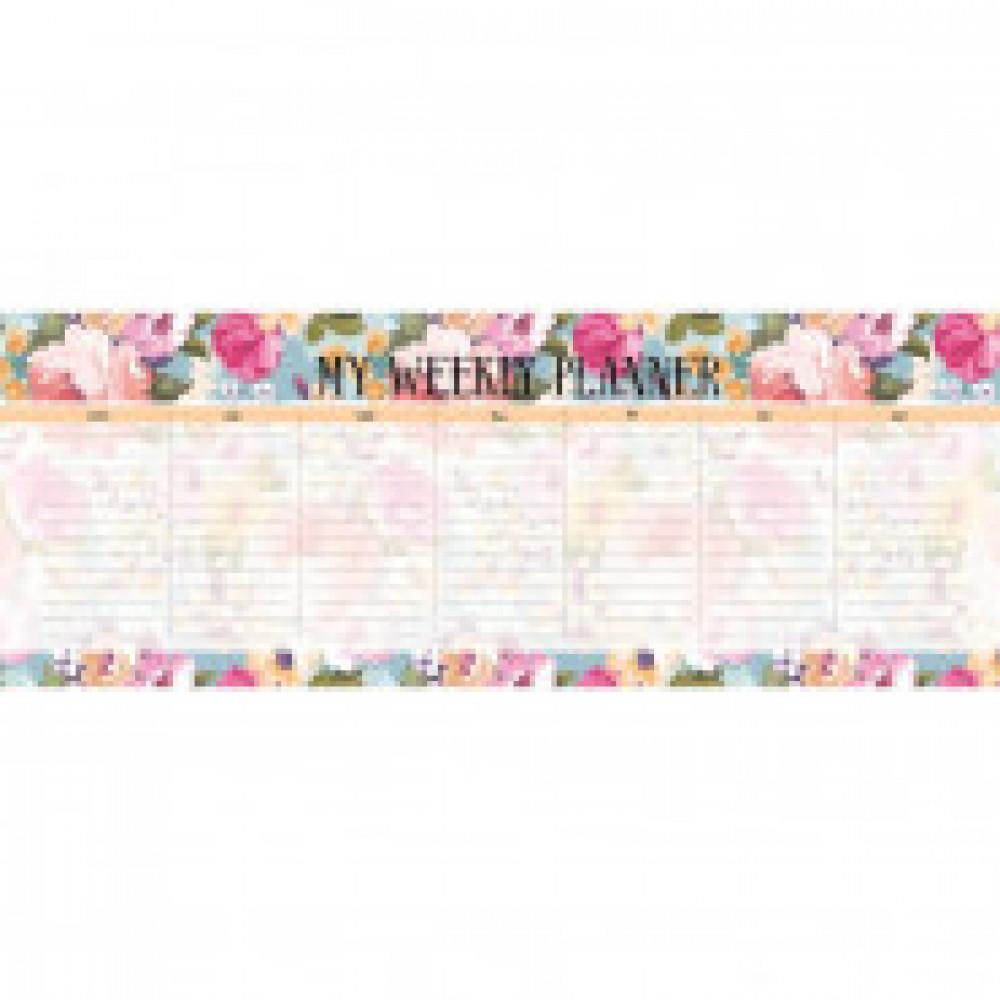 Расписание уроков планер 28л,склейка,недатирован.,105х297мм Blossom N1669