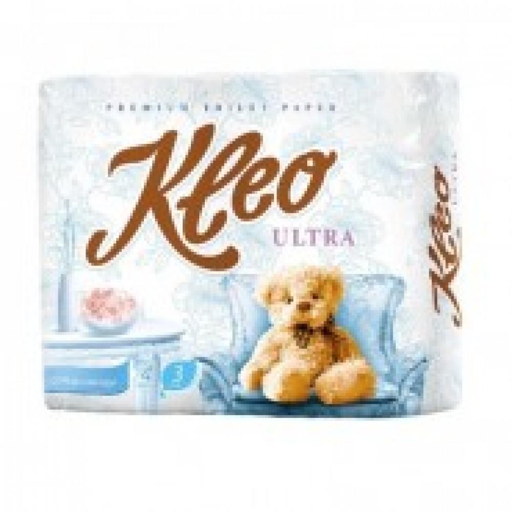 Бумага туалетная Kleo Ultra 3сл бел 100%цел втул 20м 160л 4 рул/уп с86