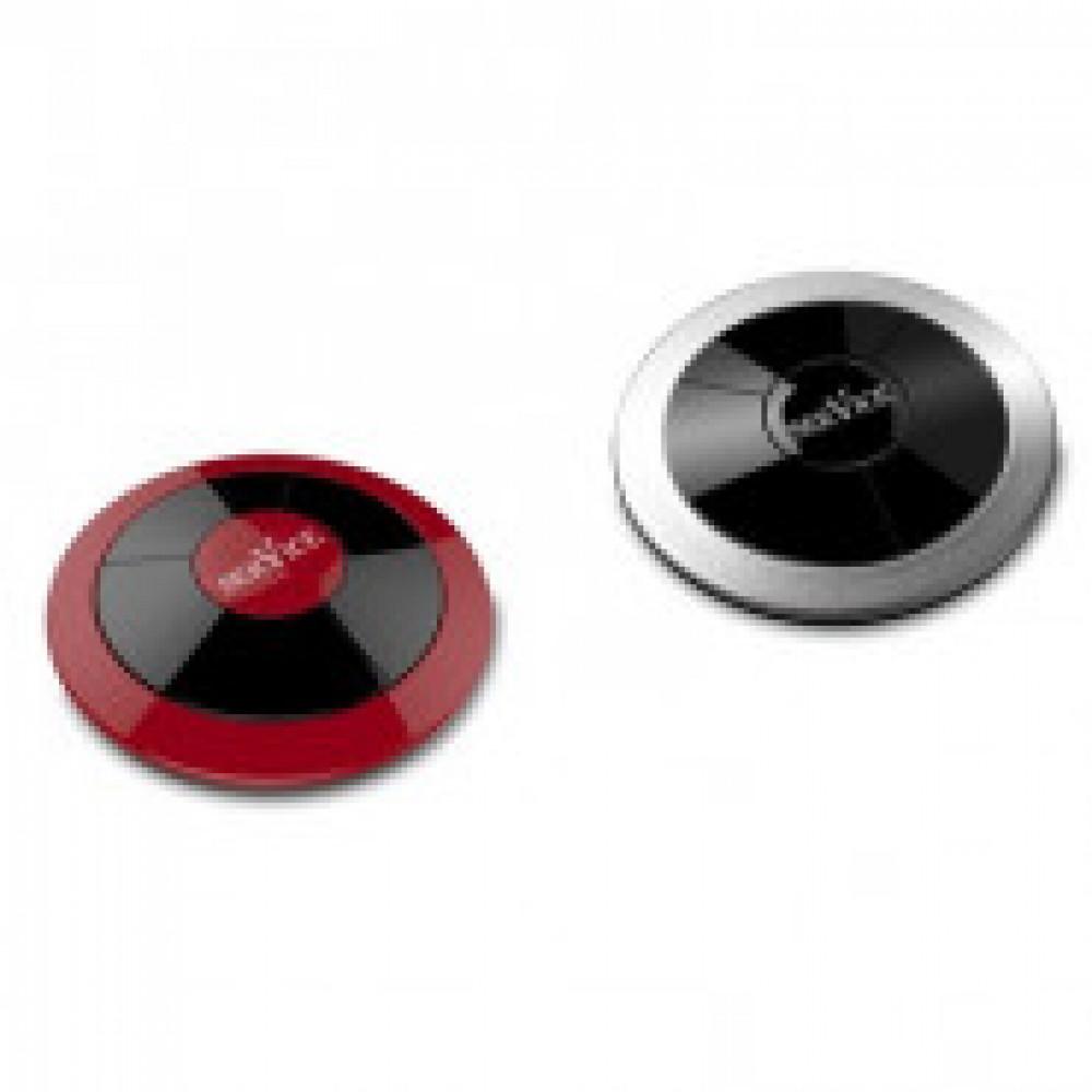 Кнопка вызова персонала RU-1, цвет вишня/серебро