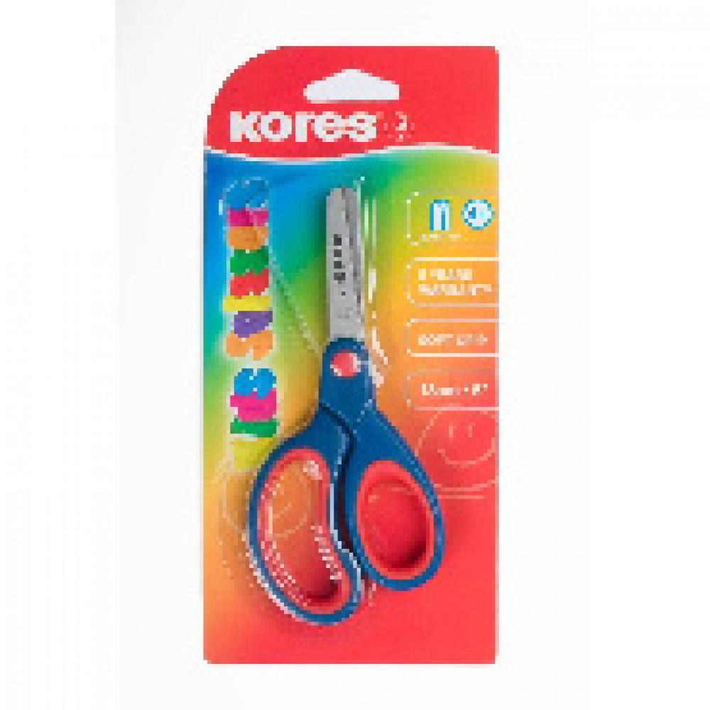 Ножницы детские Kores Softgrip (130 мм, с эргономичными ручками)